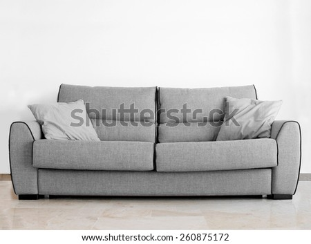 modern sofa in an interior room view - stock photo