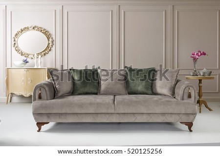 Modern Sofa In Luxury Living Room