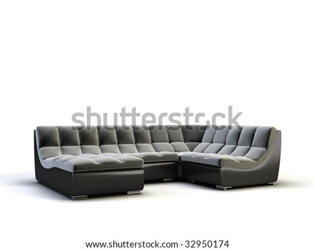 modern sofa on the white