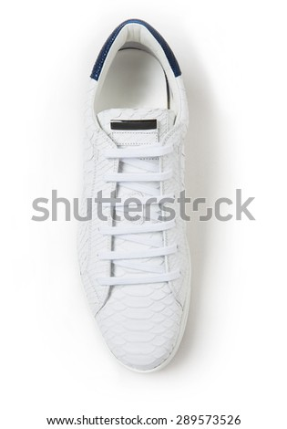 modern sport shoe in plan isolated with shadows - stock photo