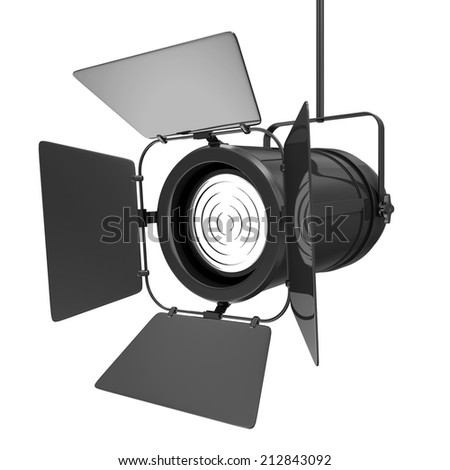 Modern Spotlight isolated on white background - stock photo