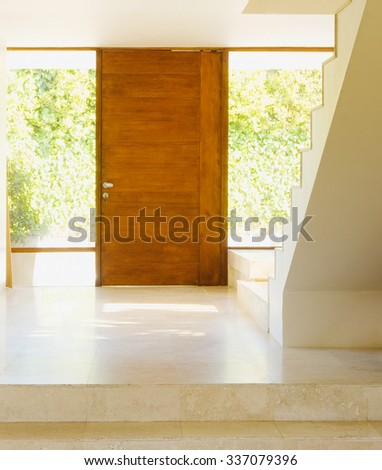 Modern staircase  and door hall