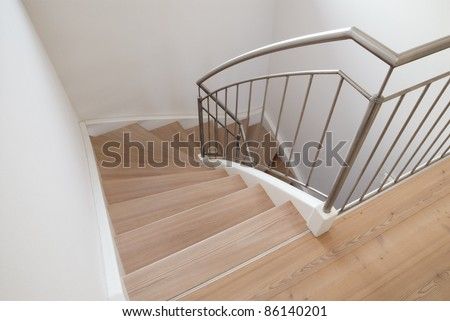 Modern staircase inside a house