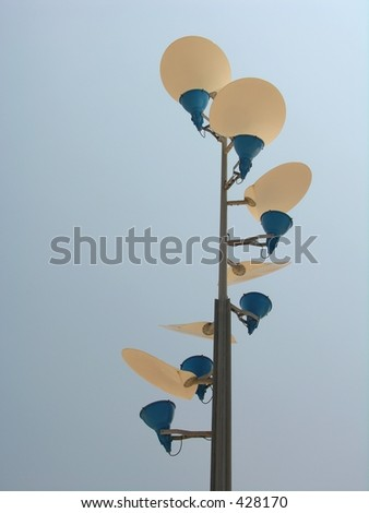 Modern streetlight by day