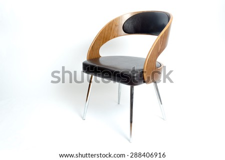 Modern style chair in a white isolated background  - stock photo