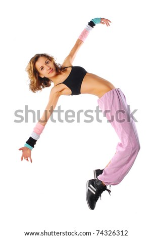 modern style dancer posing - stock photo
