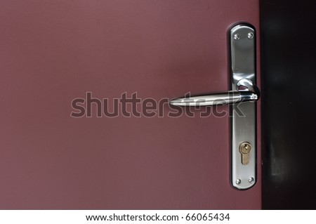 Modern style door handle  - stock photo