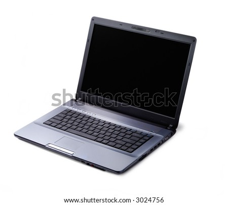 Modern style laptop isolated over white background