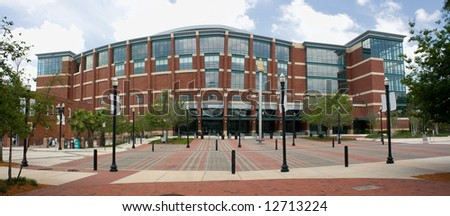 modern styled multi use arena near downtown Jacksonville Florida