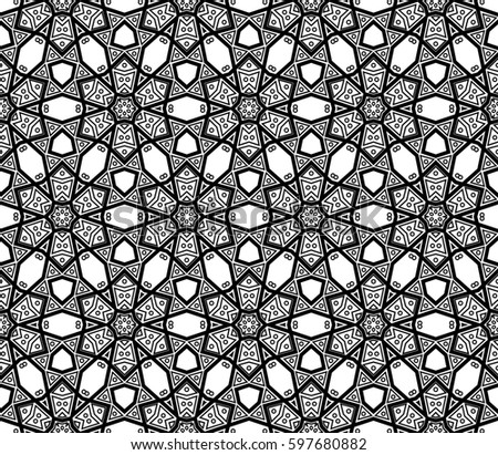 Modern stylish texture. Repeating abstract background with chaotic strokes.Raster copy monochrome seamless pattern