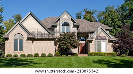 Modern Suburban Home - stock photo