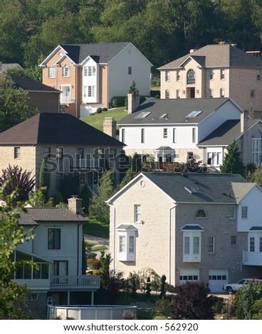 Modern suburban housing. - stock photo