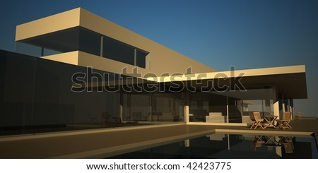 Modern Summer House Render