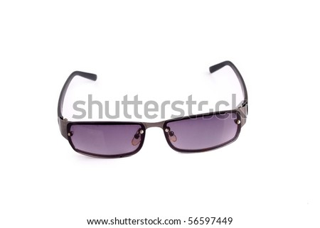 Modern sunglasses isolated on white - stock photo