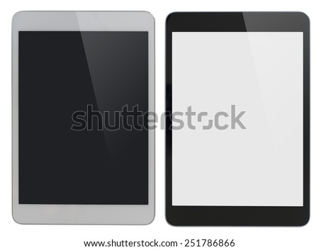 modern tablet PC similar to ipad isolated with clipping path included - stock photo