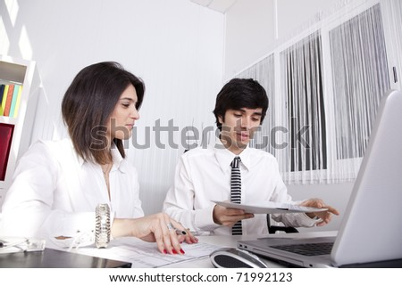 Modern team working at the office