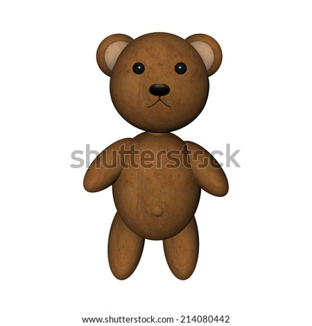 modern teddy bear isolated on white background - stock photo