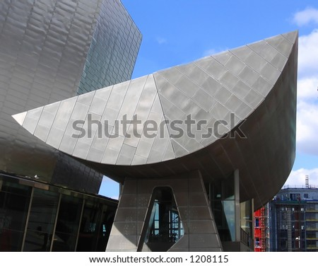 Modern Theatre in Manchester England - stock photo