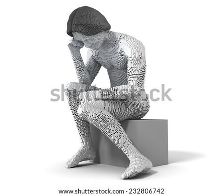 Modern Thinker - stock photo