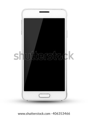 modern touch screen smartphone isolated on white background, This had clipping path.
