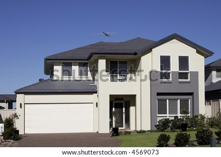 Modern Town House In A Sydney Suburb On A Summer Day, Australia - stock photo