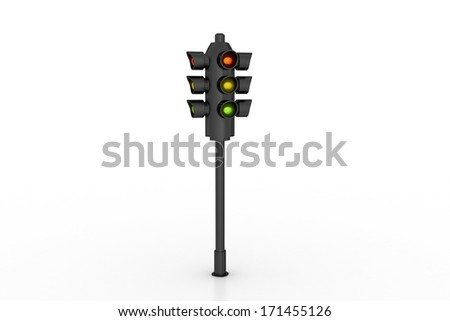 Modern traffic lights - stock photo