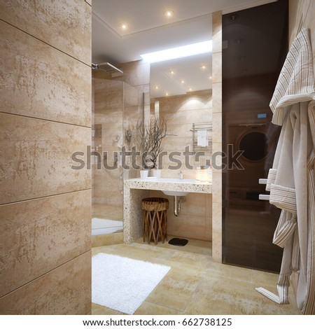 Modern Urban Contemporary Bathroom Interior Design Stock ...