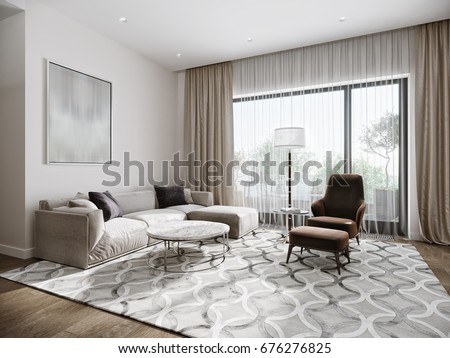 Modern urban contemporary living room hotel stock illustration 676276825 shutterstock Contemporary urban living room