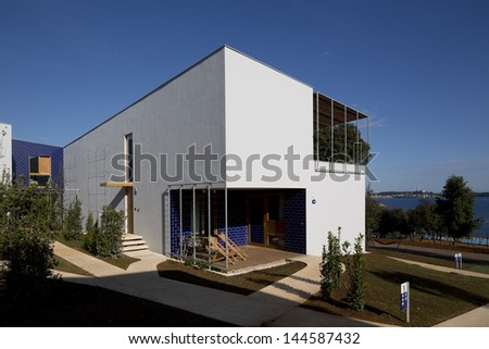 Modern Vilas in Touristic Resort - stock photo