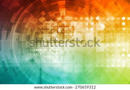 Modern Virtual Technology Background as a Art - stock photo