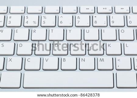 modern white keyboard close up - stock photo