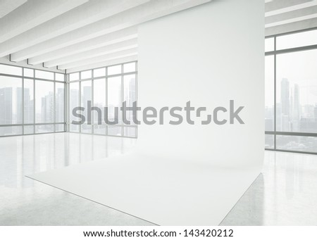 modern white office space - stock photo