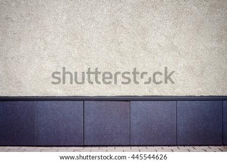 Modern white plaster street wall background - stock photo