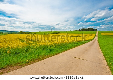 Modern Wind Turbine on the Green Fields, Germany - stock photo