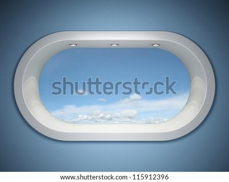 Modern window to the heavens - stock photo