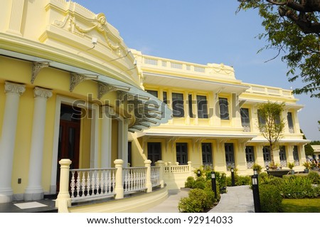 Modern Wooden  building The Grand Palace, Thailand - stock photo