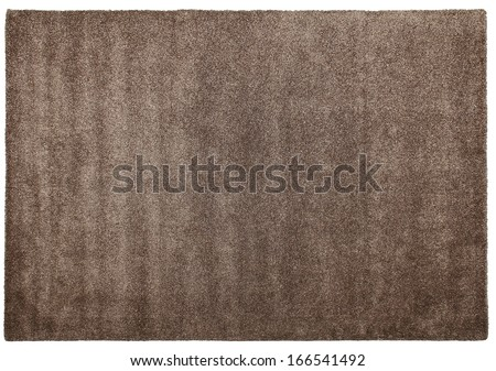 Modern woolen carpet of shaggy of handwork on a white background - stock photo