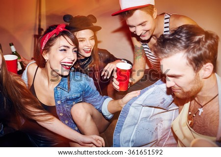 Modern young people - stock photo