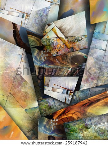 Modernist inspired abstract - stock photo
