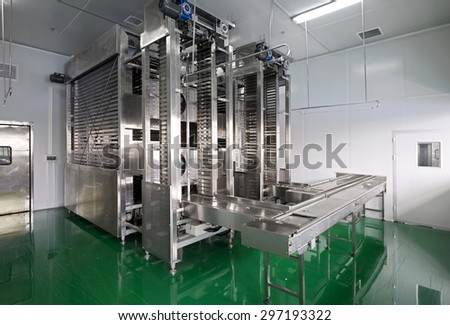 Modernization of food processing plants, production lines.Cooling plant
