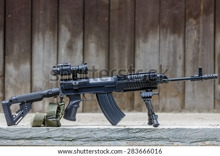 modification attack rifles - stock photo