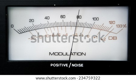 Modulation display analogue - stock photo