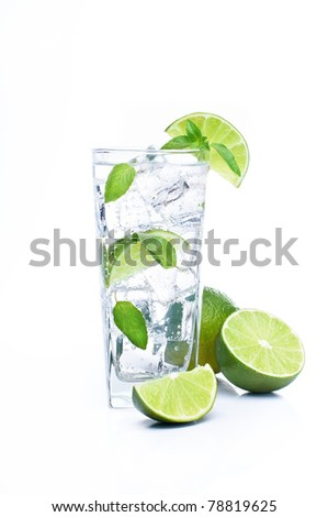 Mojito and lime - stock photo