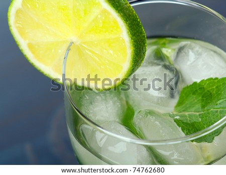 Mojito cocktail.  close up - stock photo