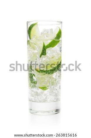 Mojito cocktail on white - stock photo