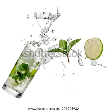 Mojito cocktail up - stock photo