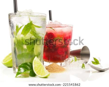 Mojito - Cranberry Cocktail - stock photo