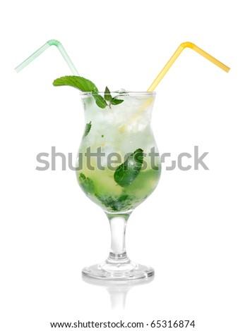 mojito isolated on white - stock photo