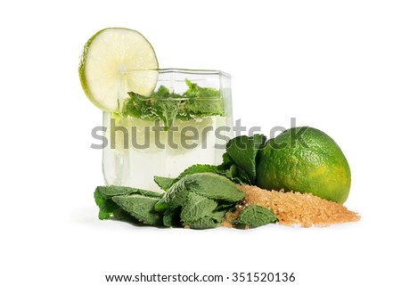 mojitos and components  - stock photo
