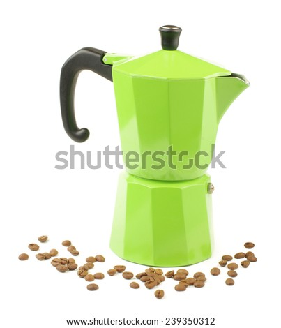 Moka coffee pot for making espresso coffee - stock photo